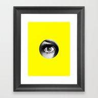 I Saw It Framed Art Print