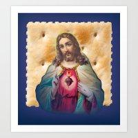 Christ On A Cracker Art Print