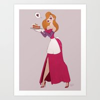 Mrs Rabbit Art Print