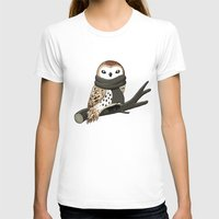 owl T-shirts featuring Winter Owl by Freeminds