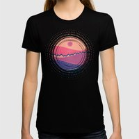 Landscape C.01 Womens Fitted Tee Black SMALL