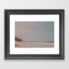 Surfer's Beach Framed Art Print