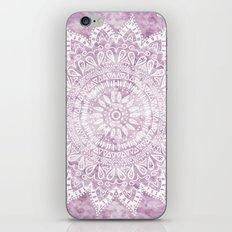 BOHEMIAN FLOWER MANDALA IN PINK iPhone & iPod Skin