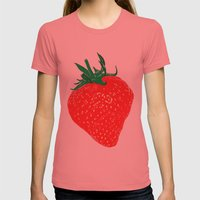 Strawberry, 2013. Womens Fitted Tee Pomegranate SMALL