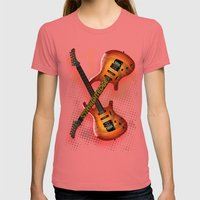 Straight Edge Womens Fitted Tee Pomegranate SMALL