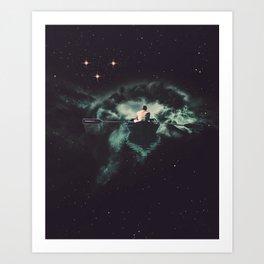 Art Print - Rowing Through Space - TRASH RIOT