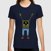 One Eyed Hipster Womens Fitted Tee Navy SMALL