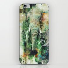 Watercolor Elephant iPhone & iPod Skin