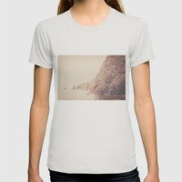Rustic Ocean Womens Fitted Tee Silver SMALL