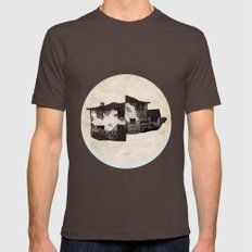house  Mens Fitted Tee Brown SMALL