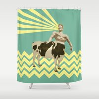 The real muscular cow-boy  Shower Curtain