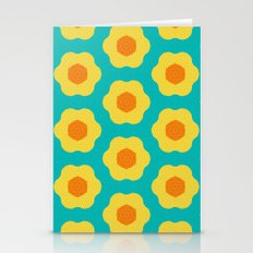 Yellow Daisy Flower Pattern Stationery Cards