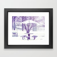 Sit Down With Me??? Framed Art Print