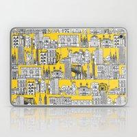 New York yellow Laptop & iPad Skin