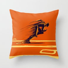 Athlethic's Run Throw Pillow