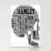 Shakespeare's Hamlet Skull Stationery Cards