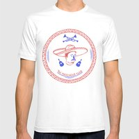 The Mariachi Patch Mens Fitted Tee White SMALL