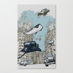 The Streets of Atlantis Canvas Print