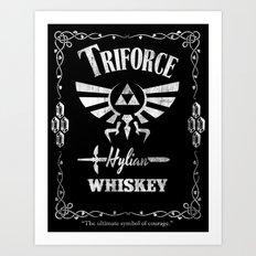 Triforce Whiskey Art Print