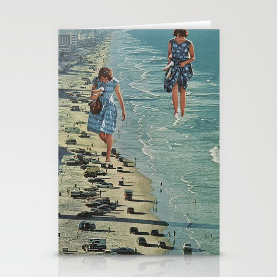 Walk on the Beach Stationery Card