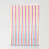 Happy Wobbly Lines II Stationery Cards