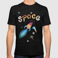 Rocket Mens Fitted Tee Tri-Black SMALL