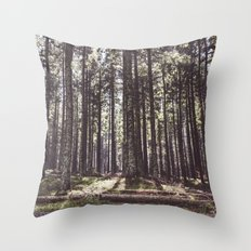 the sound of the forest Throw Pillow