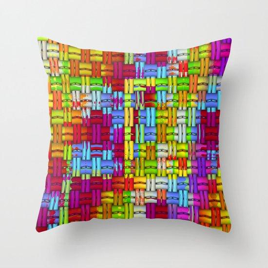 Colourful woven Throw Pillow