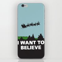 I Want To Believe (in Santa) iPhone & iPod Skin