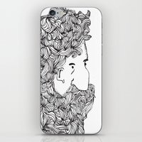 Bearded Man iPhone & iPod Skin