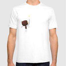 What if White Mens Fitted Tee SMALL