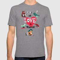 We All Love To Nurse Mens Fitted Tee Tri-Grey SMALL