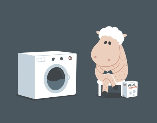 Wool wash Art Print