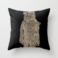 Slow Man Throw Pillow