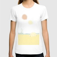 Tatooine Womens Fitted Tee White SMALL