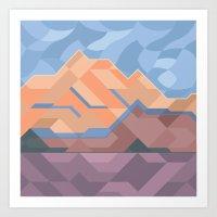 Alpenglow Art Print