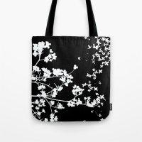 Black Dogwood Tote Bag