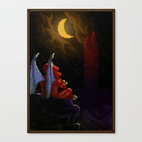 Pixel Art series 4 : Demon Canvas Print