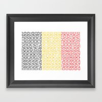 digital Flag (Belgium) Framed Art Print
