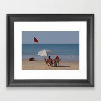 Life Guards On Palolem B… Framed Art Print