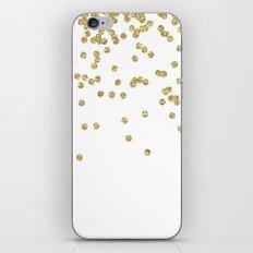 Sparkling Golden Glitter… iPhone & iPod Skin