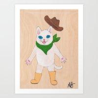 Woah! Kitty Art Print