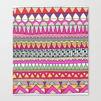 Tribal Lines Canvas Print