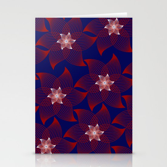 Flower Burst Stationery Card