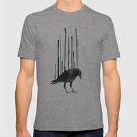 Raven Rising Mens Fitted Tee Tri-Grey SMALL