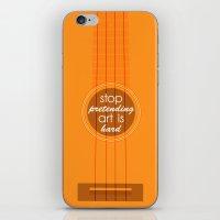Stop pretending art is hard (orange) iPhone & iPod Skin