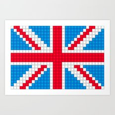 Union Jack by Qixel Art Print