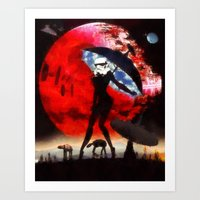 blue sky sultry stormtrooper Art Print