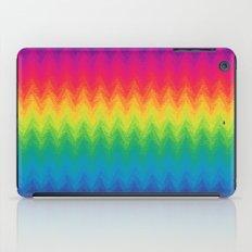 neon rainbow feather chevron  iPad Case