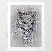 Twiggy Art Print
